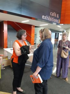 Author Jane Downing in conversation with Cathy McGowan
